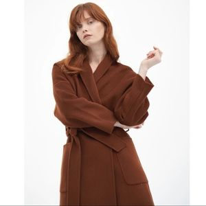 QUAINT ICONIC Dion Wool-Cashmere Robe Coat